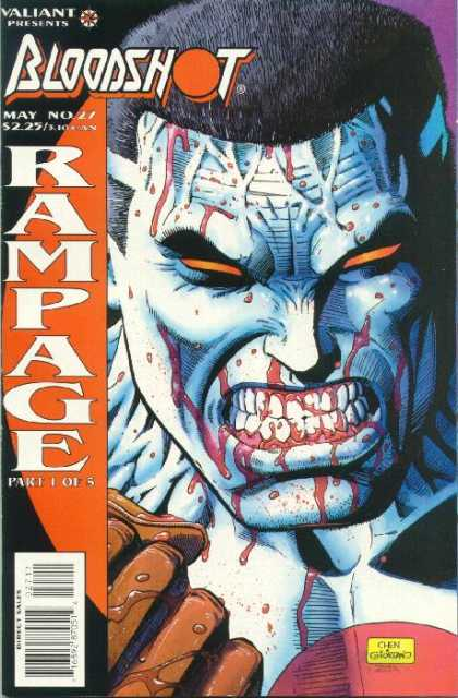 Bloodshot 27 - Teeth - Valiant - Rampage - May - Black Hair - Dick Giordano, Sean Chen