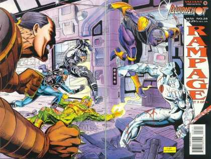 Bloodshot 28 - Fight - Action - Hero - Villian - Purple - Dick Giordano, Sean Chen