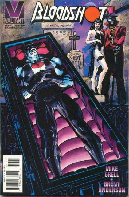Bloodshot 37 - Valiant - Coffin - Mike Grell - Brent Anderson - Grave Stone