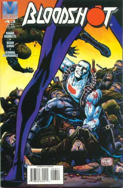 Bloodshot 43 - Blood - Beath - Soldiers - Purple Leg - Sword - Sean Chen