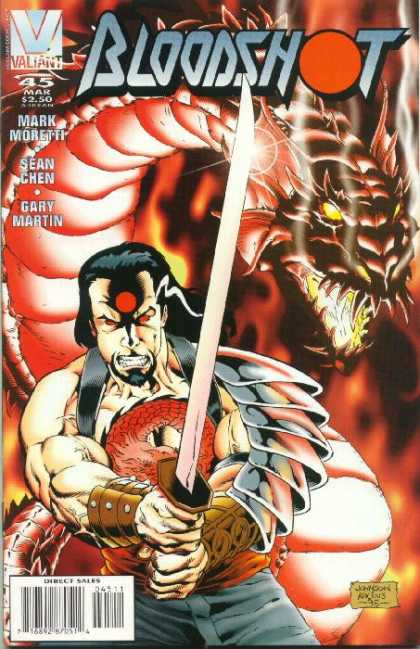Bloodshot 45 - Sword - Dragon - Sean Chen - Valiant - Direct Sales - Scott Kolins