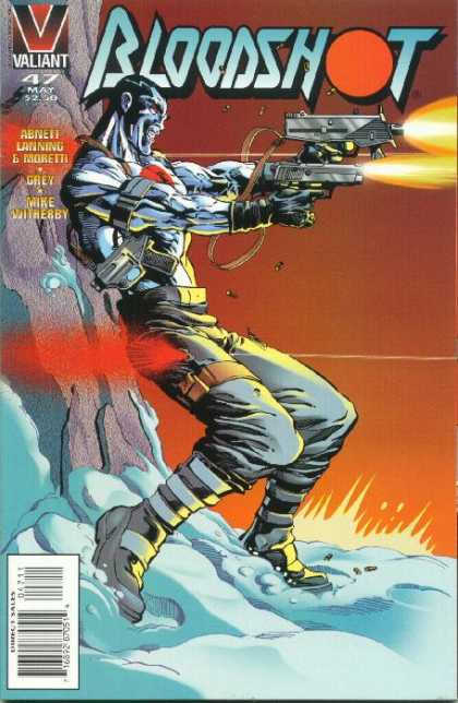 Bloodshot 47 - Valiant - Shooting - Blue Skin - Mountain - Snow - Ralph Morales