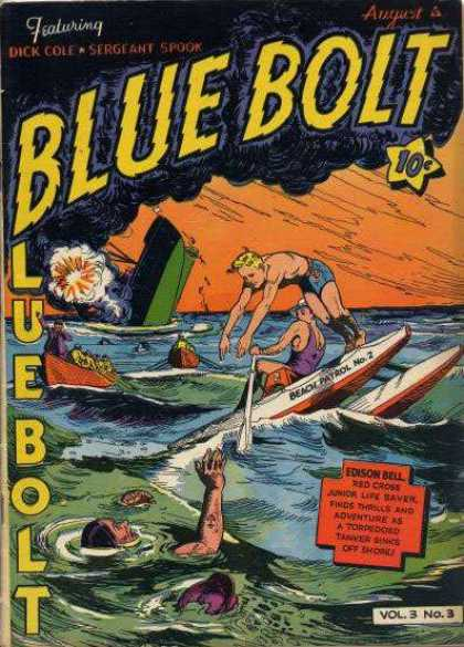 Blue Bolt 27 - Dick Cole - Sergeant Spook - August - Edison Bell - Red Cross