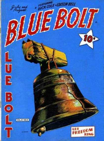 Blue Bolt 38 - Blue Bolt - July And August - Dick Cole - Edison Bell - Let Freedom Ring