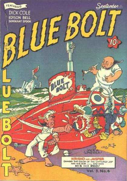 Blue Bolt 4 - September - Dick Cole - Featuring - Edison Bell - Sergeant Spook