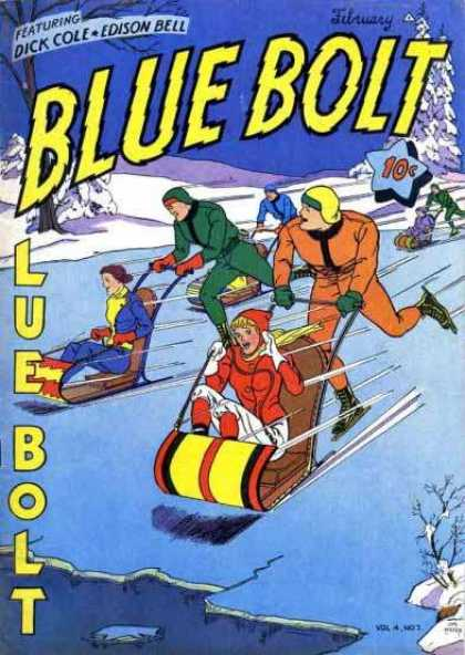Blue Bolt 43 - Dick Cole - Edison Bell - February - Sled - Ice Skating