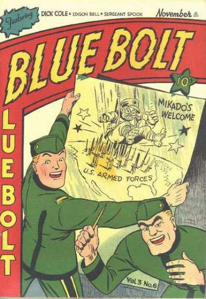 Blue Bolt 6 - Here Comes Mikado - Ouch Who Put These Things There - Welcome To The Armed Forces - How Not To Land - Sergeant Spook Did It Again