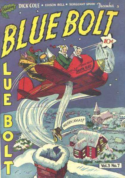 Blue Bolt 7 - Dick Cole - Edison Bell - Sergeant Spook - December - Merry Xmas