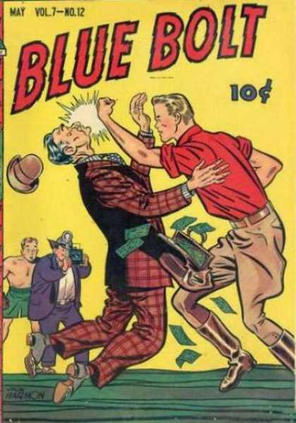 Blue Bolt 78 - 1950 - Punch - Uppercut - Money - Photographer