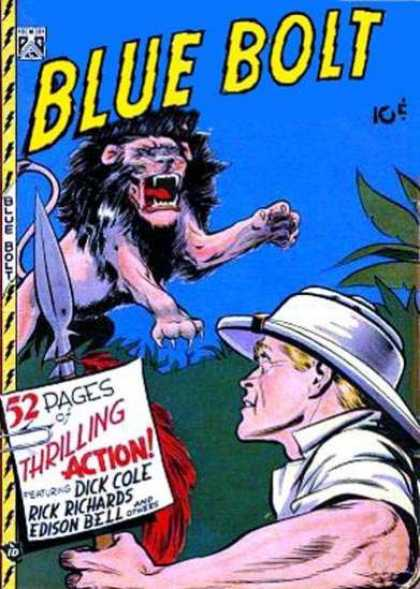 Blue Bolt 90 - Lion - Human - 10 Cents - Jungle - Dick Cole