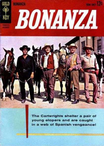 Bonanza 1 - House - Red - Man - Horse - Shoes