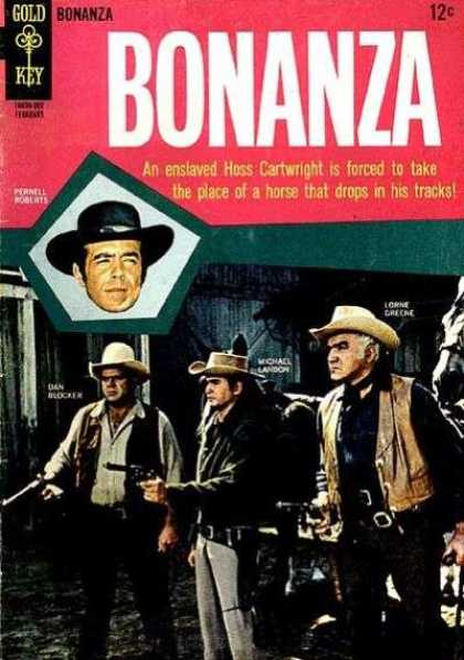 Bonanza 12 - Hoss Cartwright - Take The Place Of A Horse - Drops In His Tracks - Enslaved - Gold Key