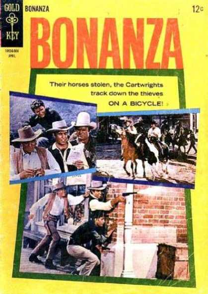 Bonanza 13 - Gold Key Comics - Cowboys - Gun Battles - Horses - Thieves