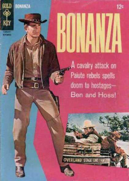Bonanza 22 - Michael Landon - Old West - Gunslinger - Ben And Hoss - Stagecoach