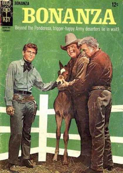 Bonanza 23 - Gold Key - Cap - Horse - Belt - Beyond The Ponderesa Trgger Happy Army Deserters Lie In Wait