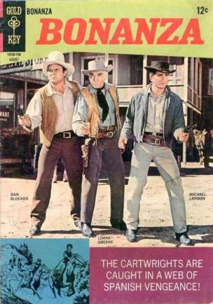 Bonanza 25 - Gold Key - Dan Blockers - Michael Landon - Lorne Greene - Cartwrigths