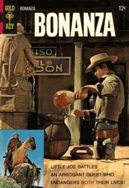 Bonanza 28 - Gold Key - Cowboy - Horse - Little Joe - Water
