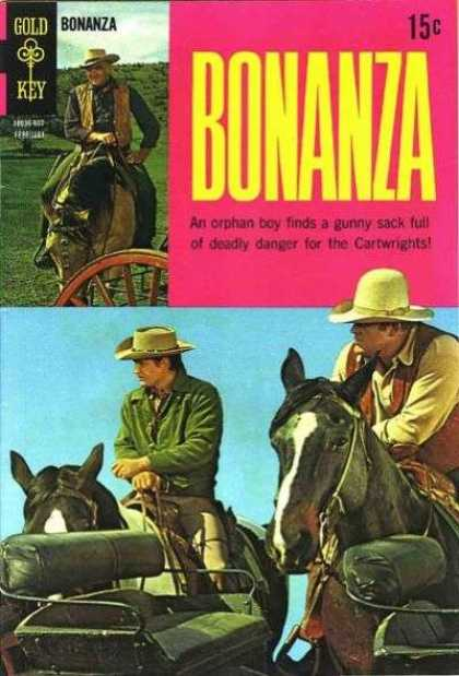 Bonanza 31 - Gold Key - Cowboys - Western - Cartwrights - Horses
