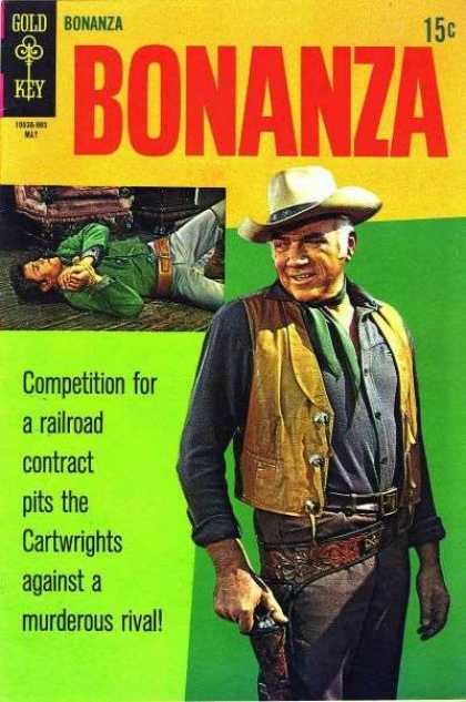 Bonanza 32 - Gold Key - May - 15c - Competition - Railroad
