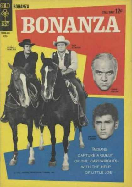 Bonanza 7 - Gold Key - 12c - Pernell Roberts - Indians - Little Joe