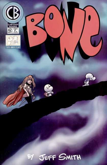 Bone 42 - Bone - Bone And Friends - Anime Girl - Bridge - Swords - Jeff Smith