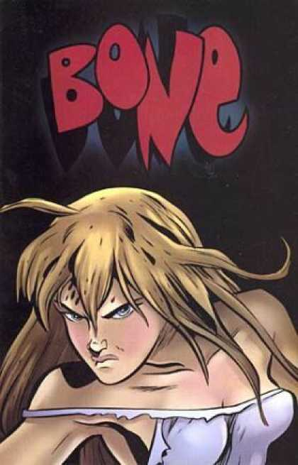 Bone 52 - Female - Mad Expression - Torn Clothes - Wild Hair - White Clothes - Jeff Smith