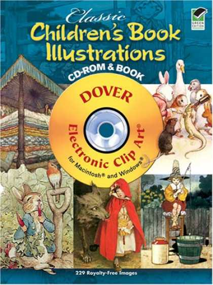 Books About Art - Classic Children's Book Illustrations CD-ROM and Book (Dover Electronic Clip Art