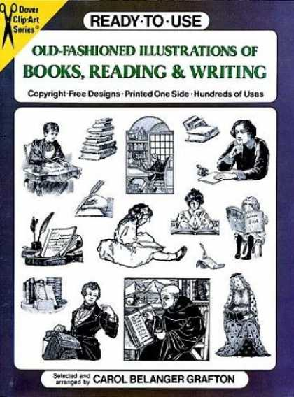 Books About Art - Ready-to-Use Old-Fashioned Illustrations of Books, Reading and Writing (Dover Cl