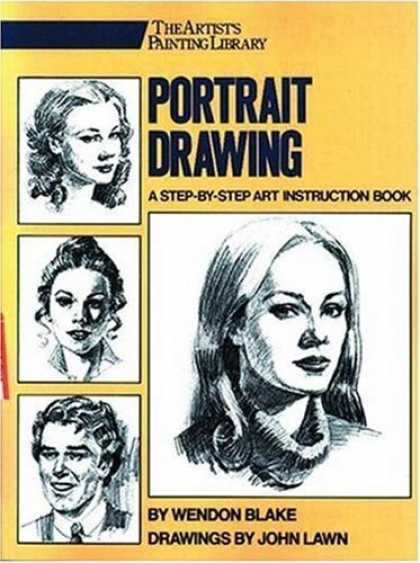 Books About Art - Portrait Drawing: A Step-by-Step Art Instruction Book (Artist's Painting Library