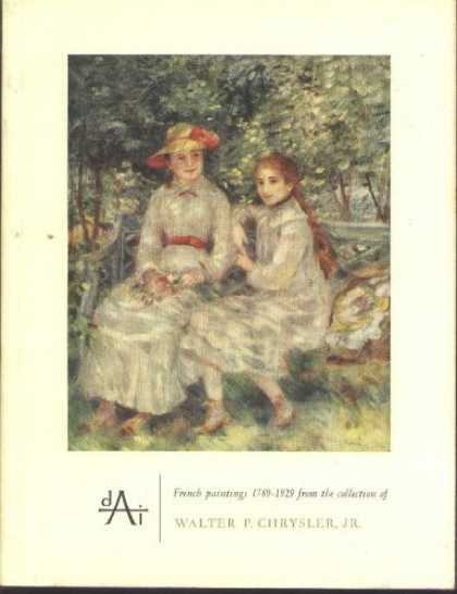Books About Art - French Paintings 1789-1929 from the Collection of Walter P. Chrysler, Jr.