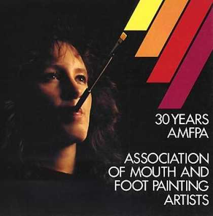 Books About Art - 30 Years AMFPA: Association of Mouth and Foot Painting Artists