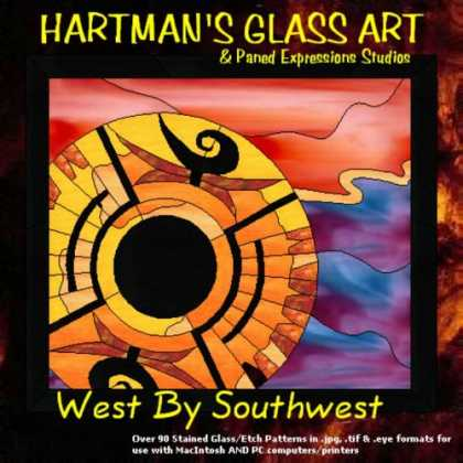 "Books About Art - Stained Glass Pattern Collection - ""West By Southwest"""
