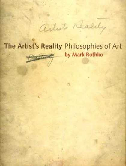 Books About Art - The Artist's Reality: Philosophies of Art