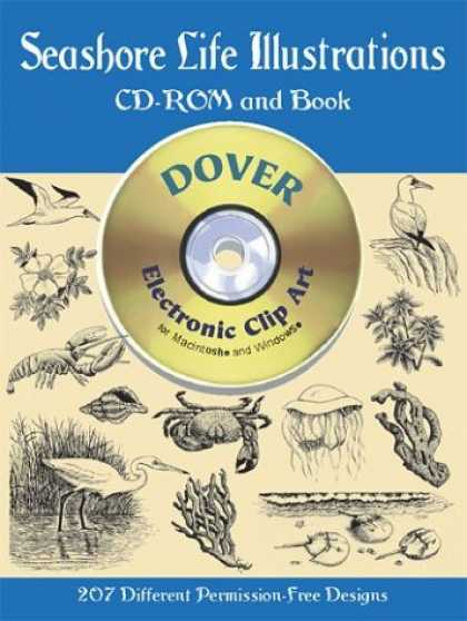 Books About Art - Seashore Life Illustrations (Dover Electronic Clip Art Series) (Book and CD-ROM)