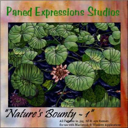 "Books About Art - Stained Glass Pattern Collection - ""Nature's Bounty 1"""