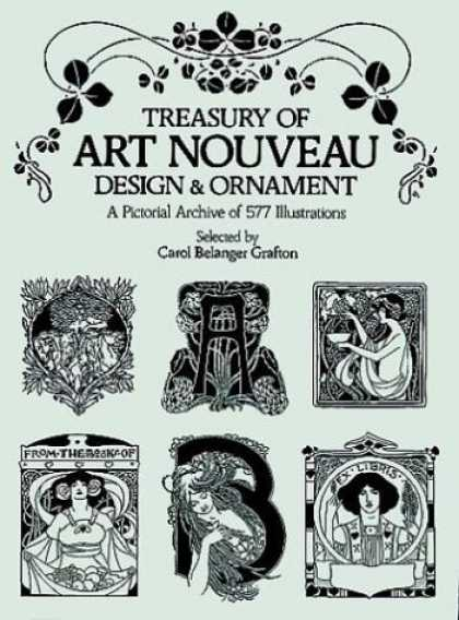 Books About Art - Treasury of Art Nouveau Design & Ornament (Dover Pictorial