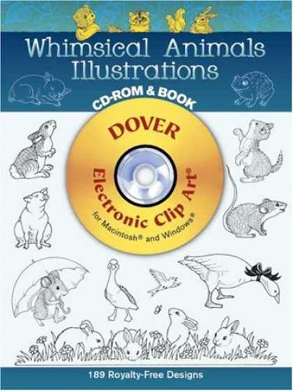 Books About Art - Whimsical Animals Illustrations CD-ROM and Book (Electronic Clip Art)