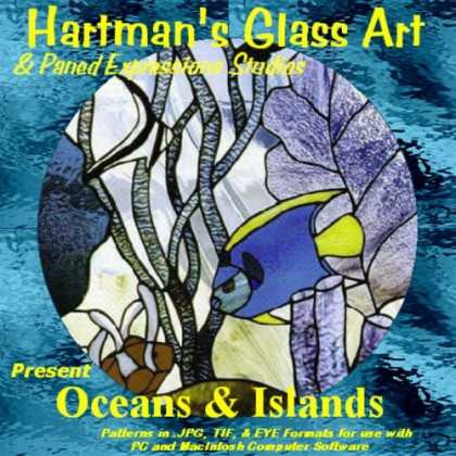 "Books About Art - Stained Glass Pattern Collection - ""Oceans & Islands"""