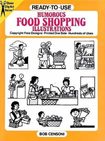 Books About Art - Ready-to-Use Humorous Food Shopping Illustrations (Dover Clip Art Series)