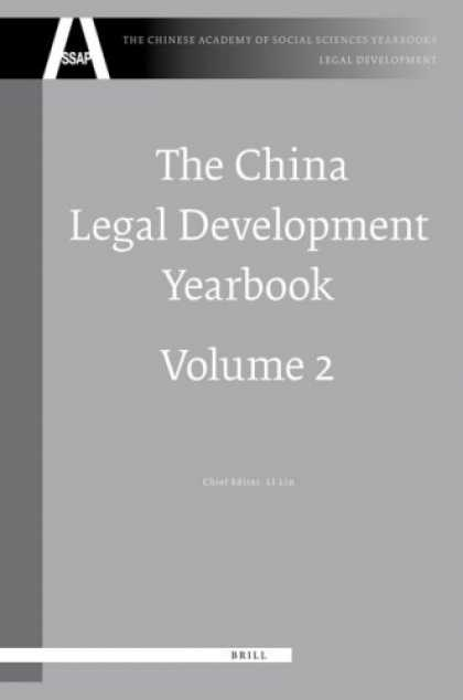 Books About China - The China Legal Development Yearbook (The Chinese Academy of Social Sciences Yea