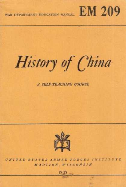 "Books About China - History of China: A Self-Teaching Course, Based on ""A Short History of the Chine"
