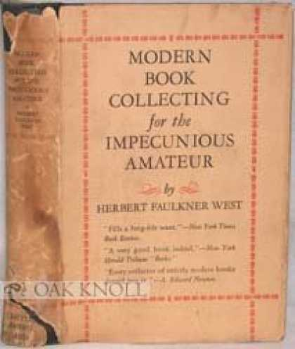 Books About Collecting - MODERN BOOK COLLECTING FOR THE IMPECUNIOUS AMATEUR