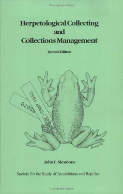 Books About Collecting - Herpetological Collecting and Collections Management