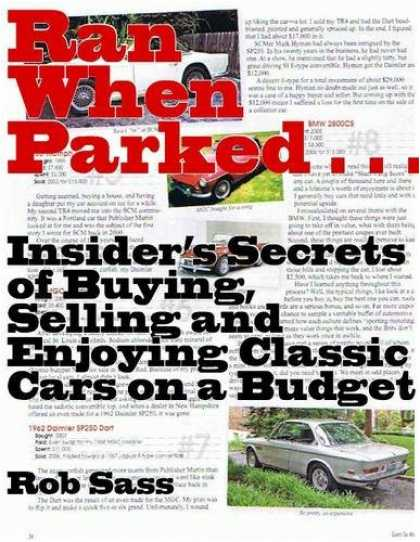 Books About Collecting - Ran When Parked: Advice and Adventures from the Affordable Underbelly of Car Col