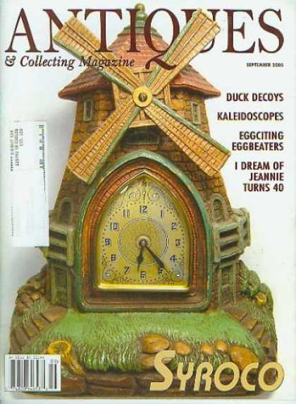 Books About Collecting - Antiques & Collecting Magazine September 2005 - Syroco, Duck Decoys, Kaeidoscope