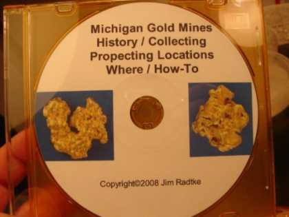 Books About Collecting - Michigan Gold Mines History Collecting Prospecting Locations Where / How-To