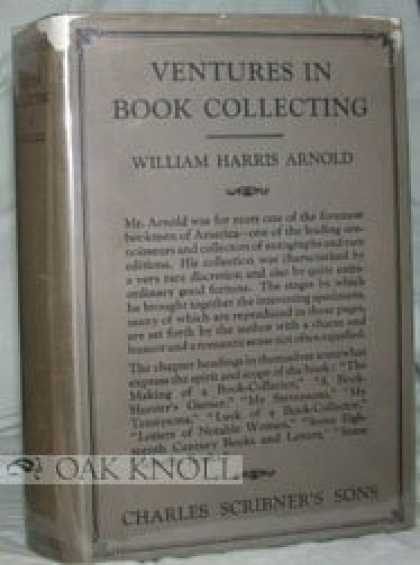 Books About Collecting - Ventures in Book Collecting