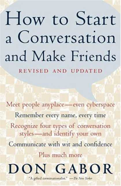Books About Friendship - How To Start A Conversation And Make Friends