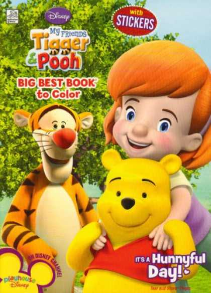 Books About Friendship - It's a Hunnyful Day Big Best Book to Color With Stickers (My Friends Tigger & Po
