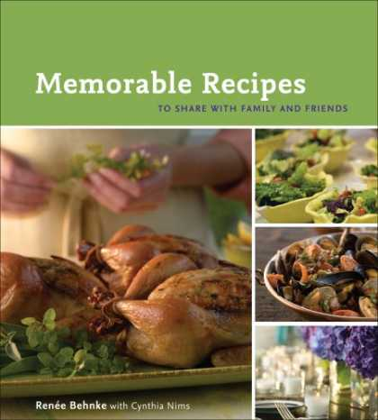 Books About Friendship - Memorable Recipes: To Share with Family and Friends